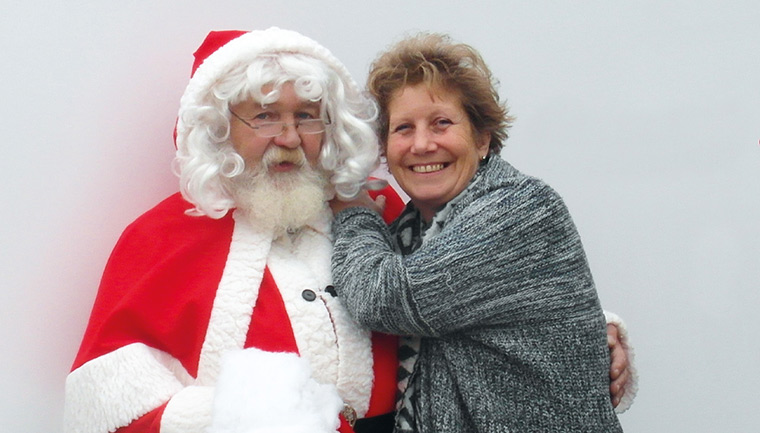 Louise Purton and Father Christmas